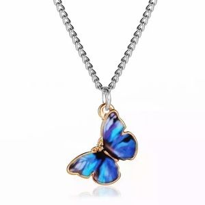 New Style Wild Simple Color Painting Butterfly